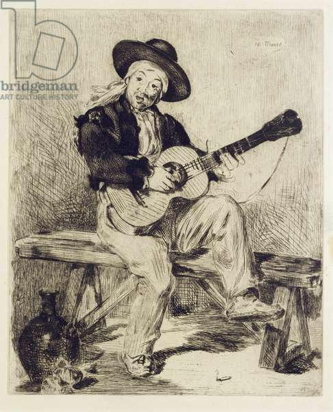 The Guitarist (etching)
