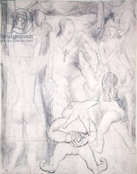 Study for 'Les Fleurs du Mal', c.1904 (pencil on paper)