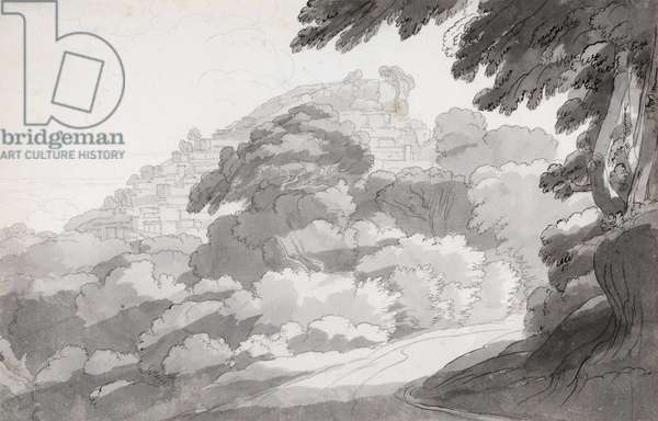 Rocca di Papa, 1781 (w/c with pen & brown ink on paper)