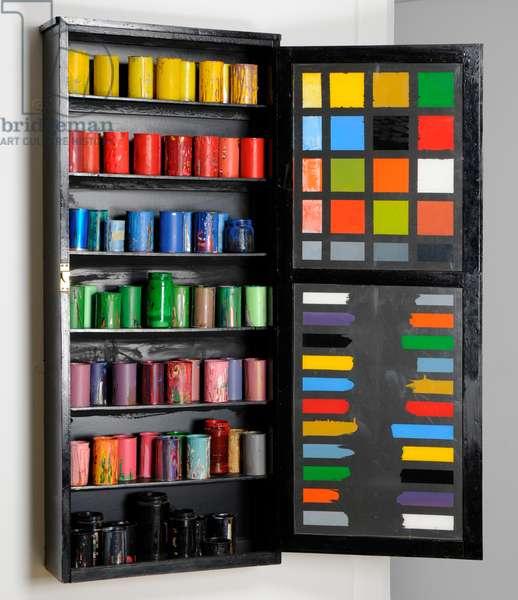 Paint Cupboard, 1973 (wood & metal)