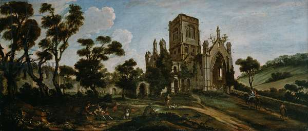 South View of Kirkstall Abbey, c.1738 (oil on canvas)