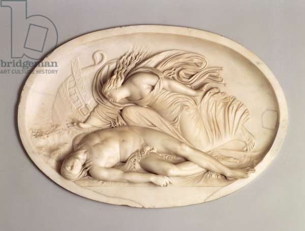 Alcoyne discovering the body of her dead husband Ceyx, 1775-79 (marble)