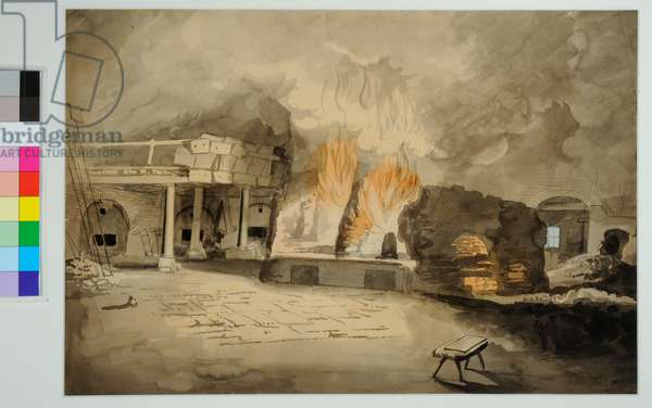 Glass house, Leeds, 1792 (w/c on paper)