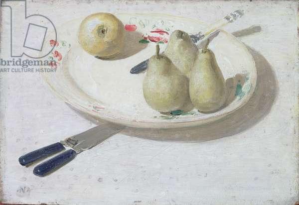 Pears, 1938 (oil on wood panel)