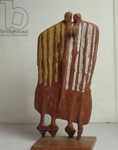 Maquette for 'Footballers', 1953 (resin)