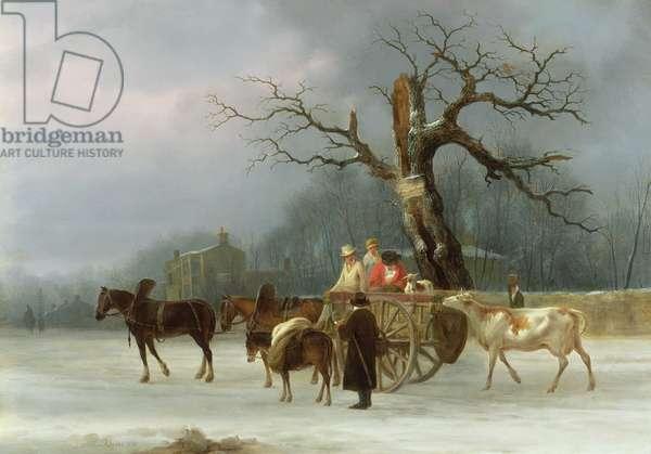 The Skyrack Oak, Leeds, 1830 (oil on panel)