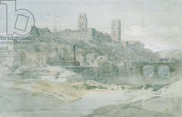 Durham, 1836 (pencil, w/c and wash on paper)