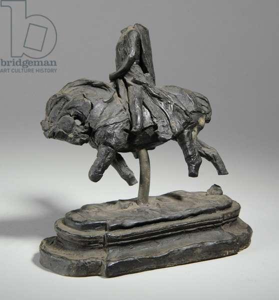 Maquette for an equestrian statue of Edward I, c.1893 (plasticine)