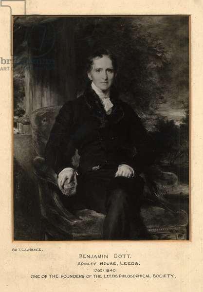 Portrait of Benjamin Gott, 1827-28 (litho)