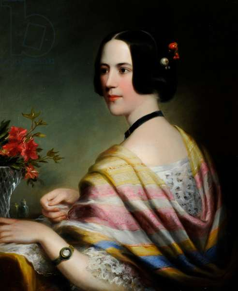 Portrait of Miss Eliza Wilkinson, c.1860 (oil on canvas)
