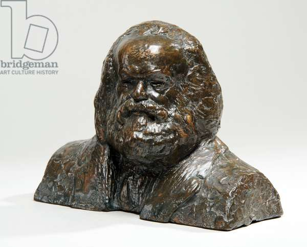 Maquette for the Bronze Head of Karl Marx, 1954-55 (bronze) (see also 876078)