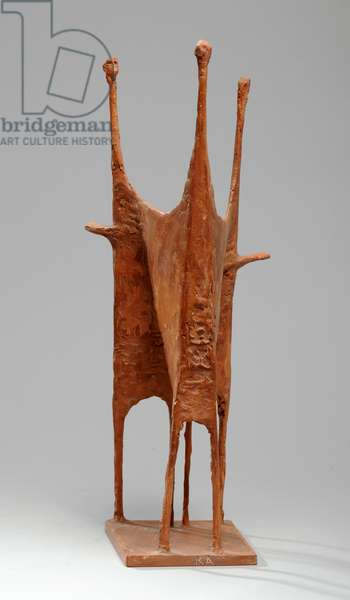Maquette for Standing Group 2, 1952 (pink plaster) (see also 876185-6)