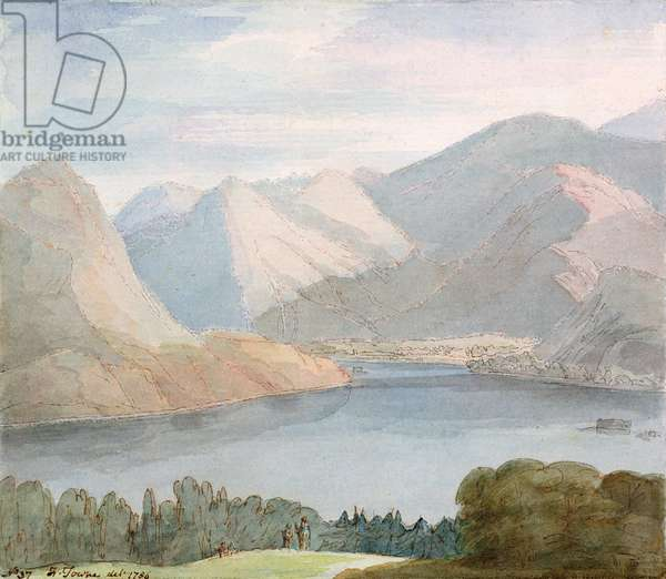Ullswater from Gowbarrow Park, 1786 (watercolour on paper)