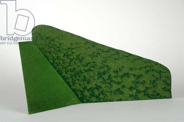 Hedge and grass model, 1971 (silkscreen, acrylic & flock on metal)