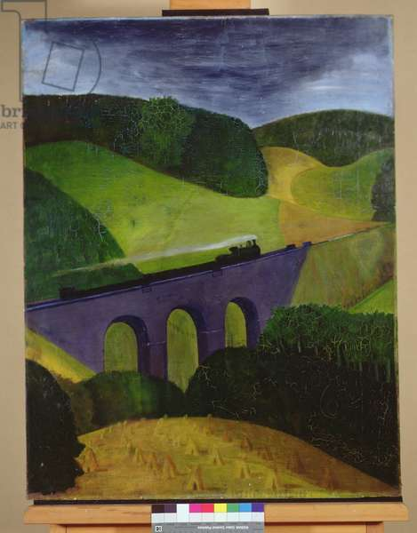 The Viaduct, c.1916 (oil on canvas)