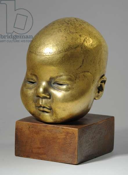 Bust of Carol Rosemary Wheeler, 1927 (gilt bronze) (see also 876137-9)