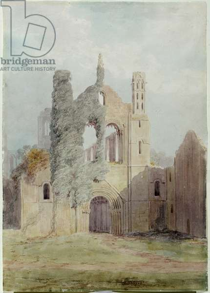 Kirkstall Abbey from the West Front (watercolour on paper)