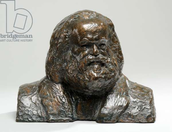 Maquette for the Bronze Head of Karl Marx, 1954-55 (bronze) (see also 876077)