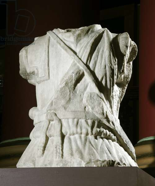 Sculpted torso of a cavalryman (marble) (see also 371179)