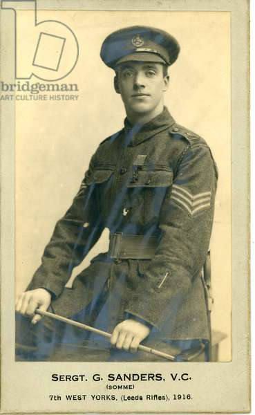 Sergeant George Sanders V.C. of the 7th West Yorkshire (Leeds Rifles) regiment, taken in 1916.