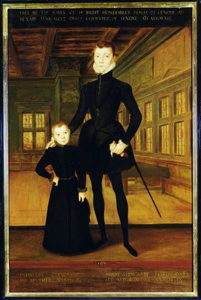 Henry Lord Darnley (1545-67) and Charles, Earl of Lennox (1555-76)  after Hans Eworth (c.1525-c.1578)