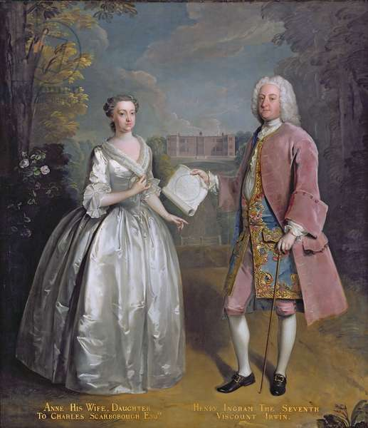 Portrait of Henry 7th Viscount Irwin and his Wife Anne (oil on canvas)