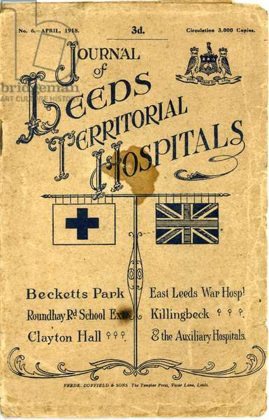 Frontispiece from the 'Journal of Leeds Territorial Hospitals April' 1918 (litho)