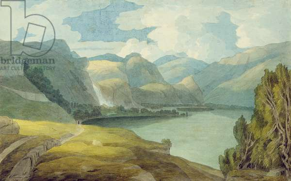 Derwentwater Looking South, 1786 (pen & ink and w/c on paper)