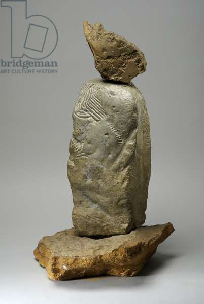 Clay Figure, 1975 (impacted clay & brown hornton stone) (see also 440297)