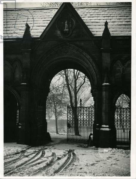 Gatekeeper's Lodge, Kirkstall Abbey (b/w photo)