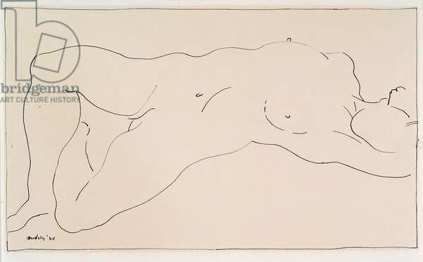 Nude Female Figure, 1934
