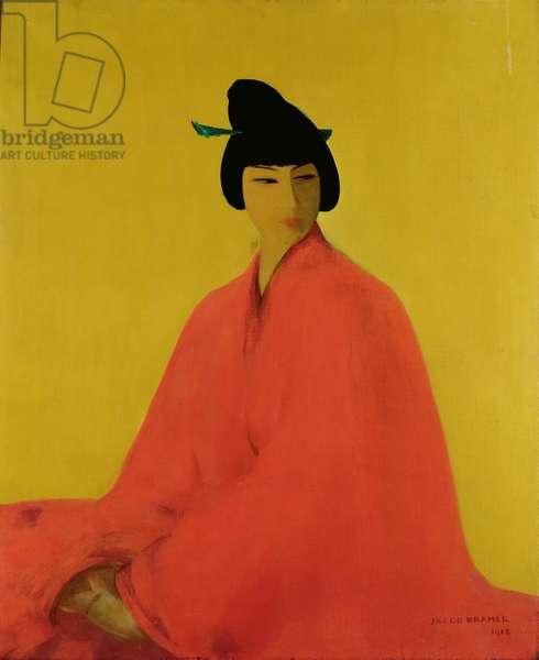 A Japanese Girl, 1918 (oil on canvas)