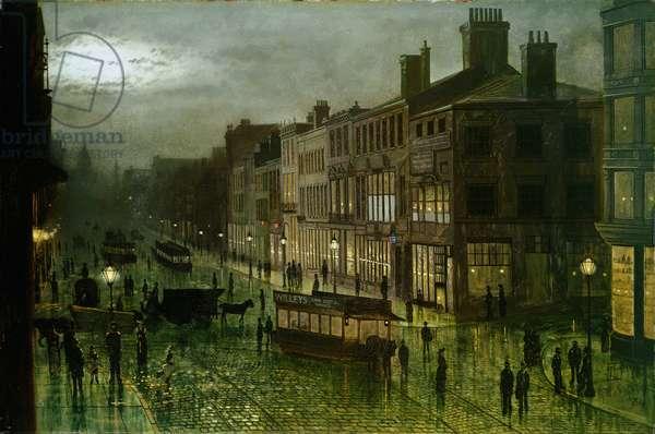 Briggate, Leeds, 1884 (oil on canvas)
