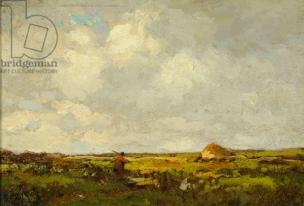 Landscape (oil on wood)