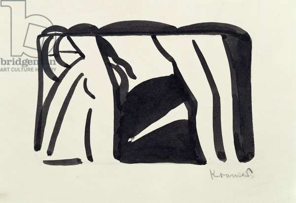 Abstract Study, c.1917 (w/c on paper)