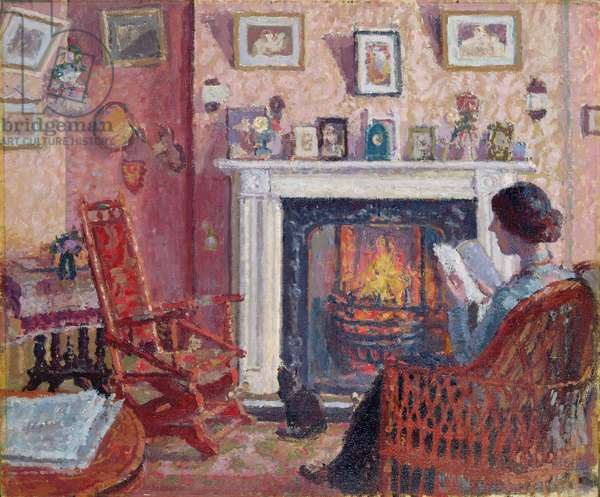 Interior, 31 Mornington Crescent (oil on canvas)