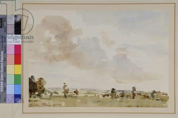 Landscape, 1924 (w/c on paper)