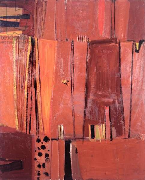 Brown Verticals, c.1958-9 (oil on canvas)