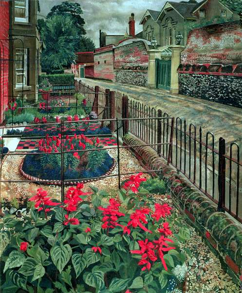Gardens in the Pound, Cookham, c.1936 (oil on canvas)