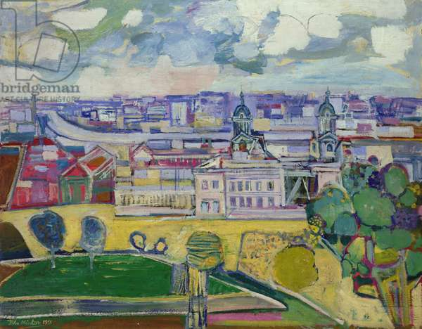The Thames from Greenwich, 1955 (oil on canvas)