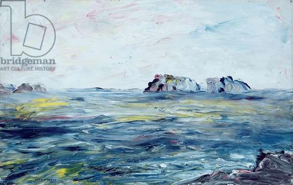 Off the Irish Coast (oil on canvas)