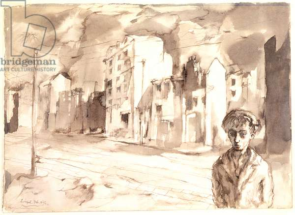 Liverpool, 1942 (pen & ink on panel)