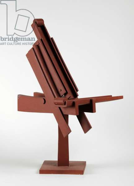 Maquette for the public sculpture at the Haymarket Shopping Centre and Haymarket Theatre, Leicester, 1974 (brown painted wood) (see also 876131)