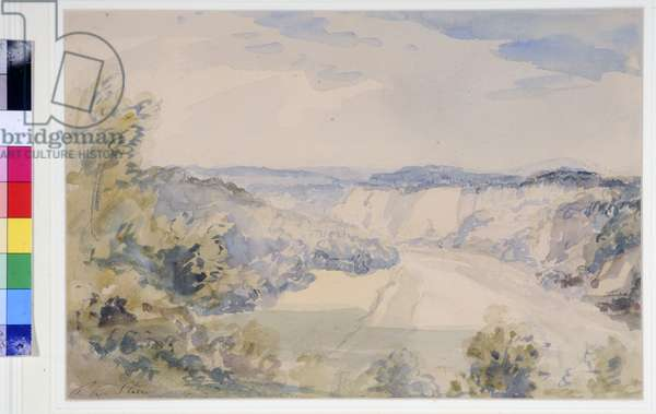 The Wye above Chepstow, c.1905 (w/c on paper)