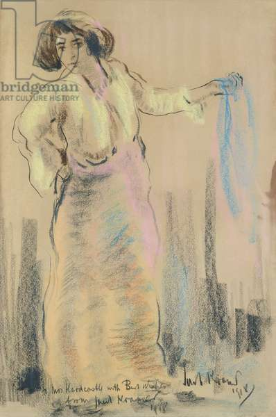 Portrait of Sarah, 1918 (chalk on paper)