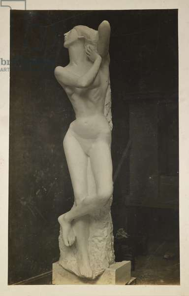 Maidenhood, Plaster cast for the Sculptural Decoration of the British Medical Association Headquarters, 1908 (b/w photo)