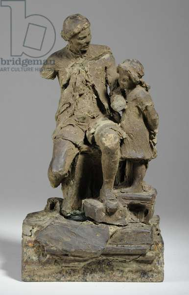 Maquette for Joshua Reynolds with Child (plasticine)