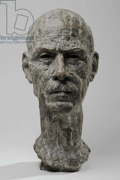 Bust of King Haakon VII, 1944 (patinated plaster) (see also 876261-2)