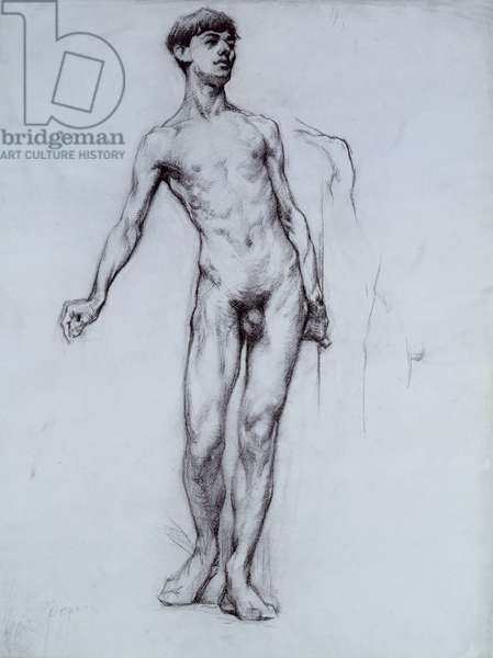 Nude Young Man (pencil on paper)