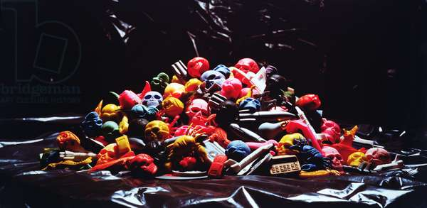 Erasers, 1985 (colour print)